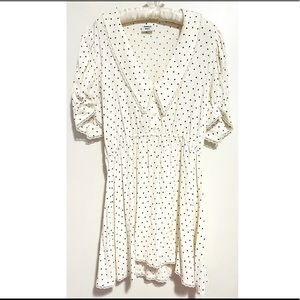 Aritzia Sunday Best Aki Dress in Coconut (White with Black Dots), Large, NWoT.